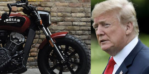 Trump and motorcycle